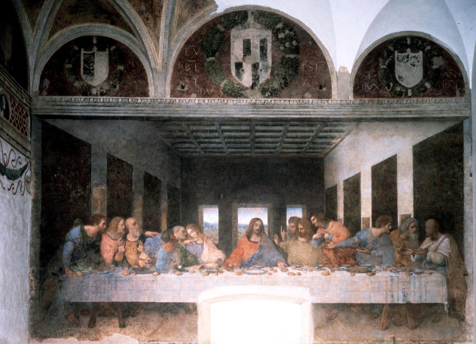 Leonardo da Vinci's restored the Last Supper in Santa Maria delle Grazie cathedral in Milan.